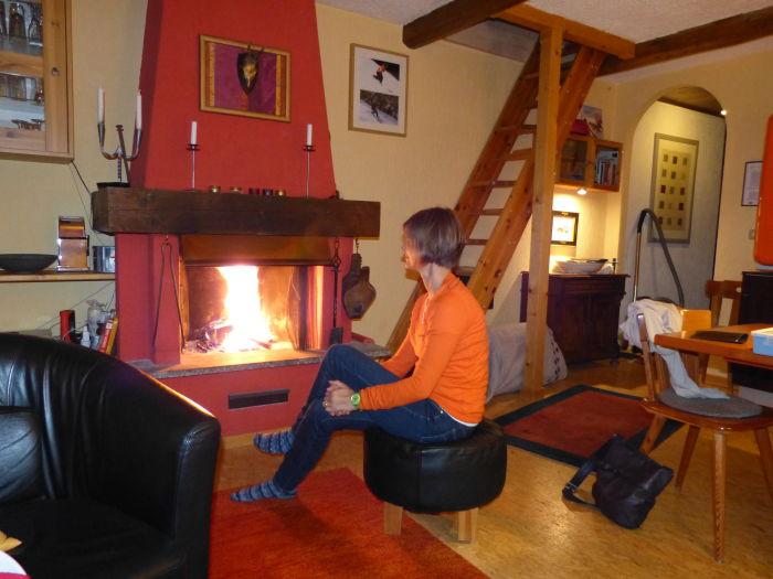 Ferienwohnung in Livigno mit Kamin und Wohnküche